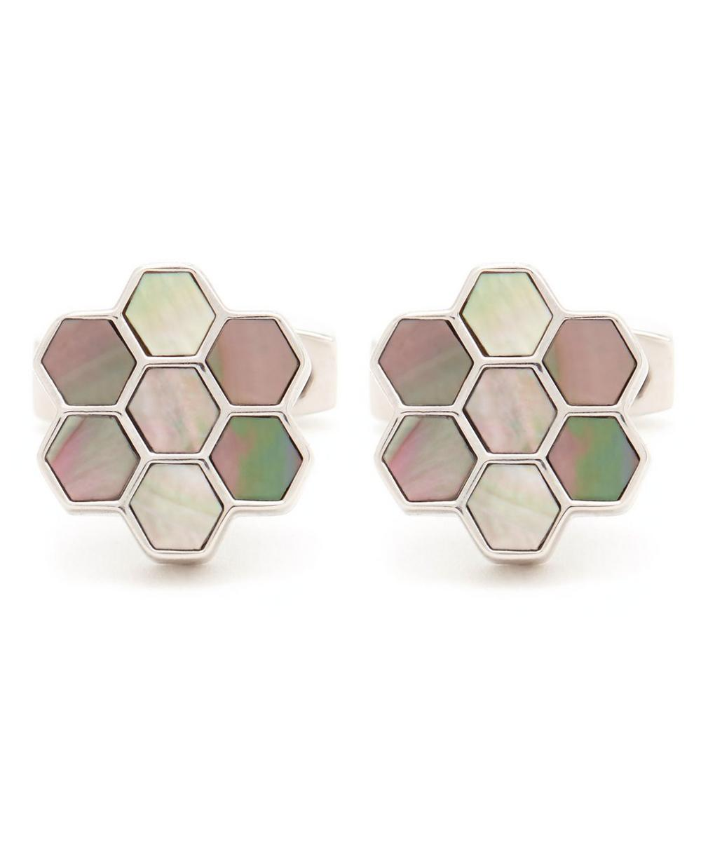 Honeycomb Mother of Pearl Cufflinks