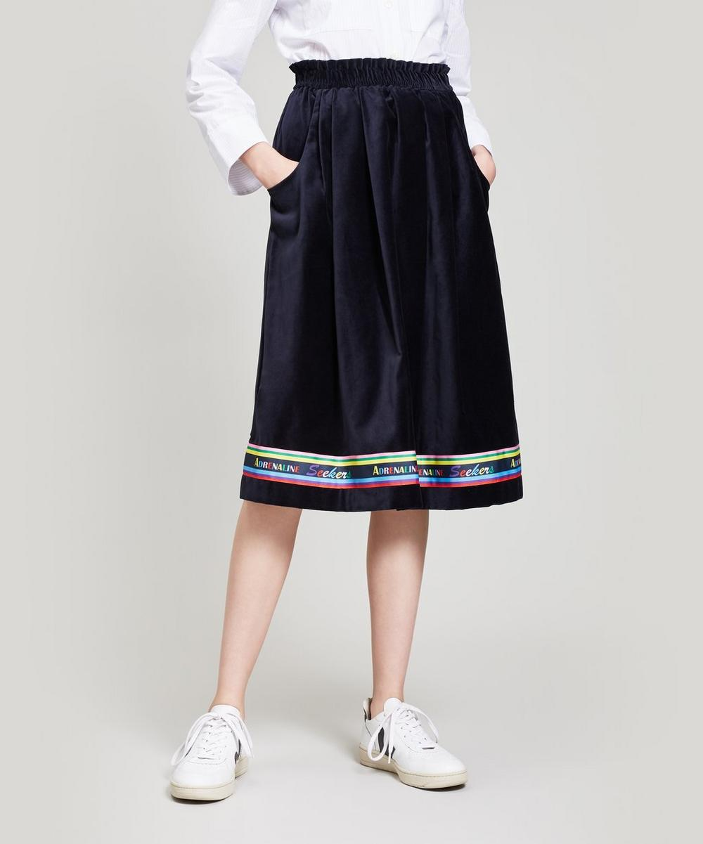Moleskin Midi-Skirt