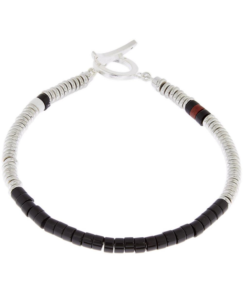 Onyx Tube Bead Bracelet