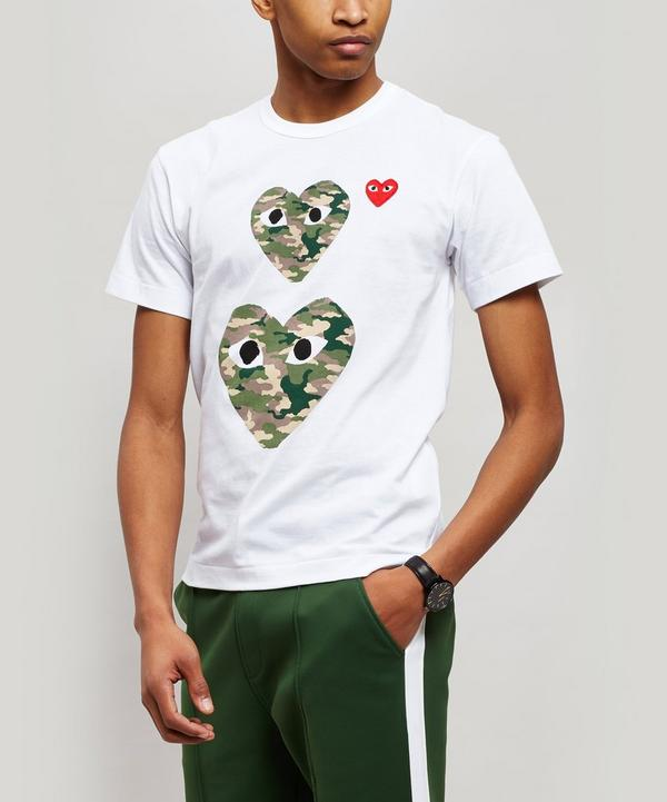 Camouflage Heart Cotton T-Shirt