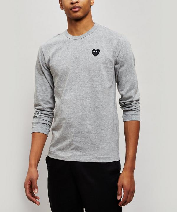 Black Heart Long Sleeve Cotton T-Shirt