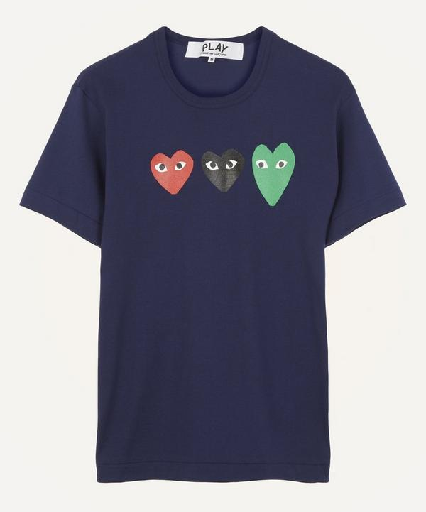 Triple Heart Cotton T-Shirt
