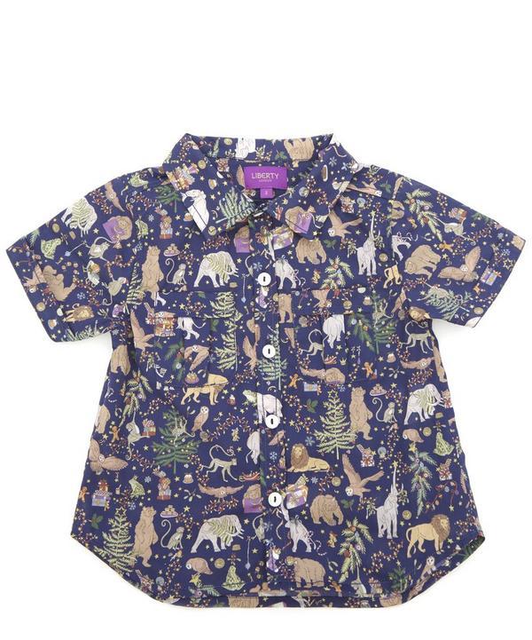 Liberty Christmas Short-Sleeved Shirt 2-10 Years