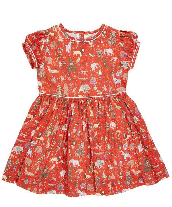 Liberty Christmas Short Sleeved Dress 3-24 Months