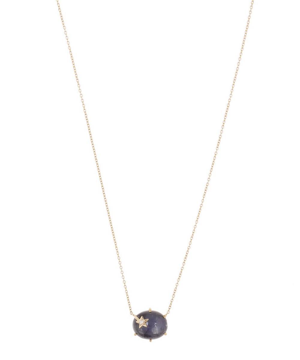 Gold Mini Galaxy Star Labradorite Necklace