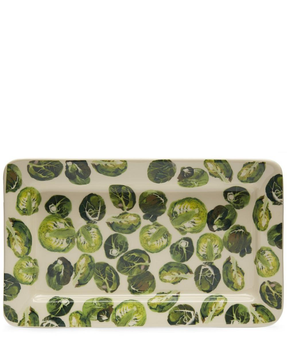 Vegetable Garden Sprouts Medium Oblong Plate