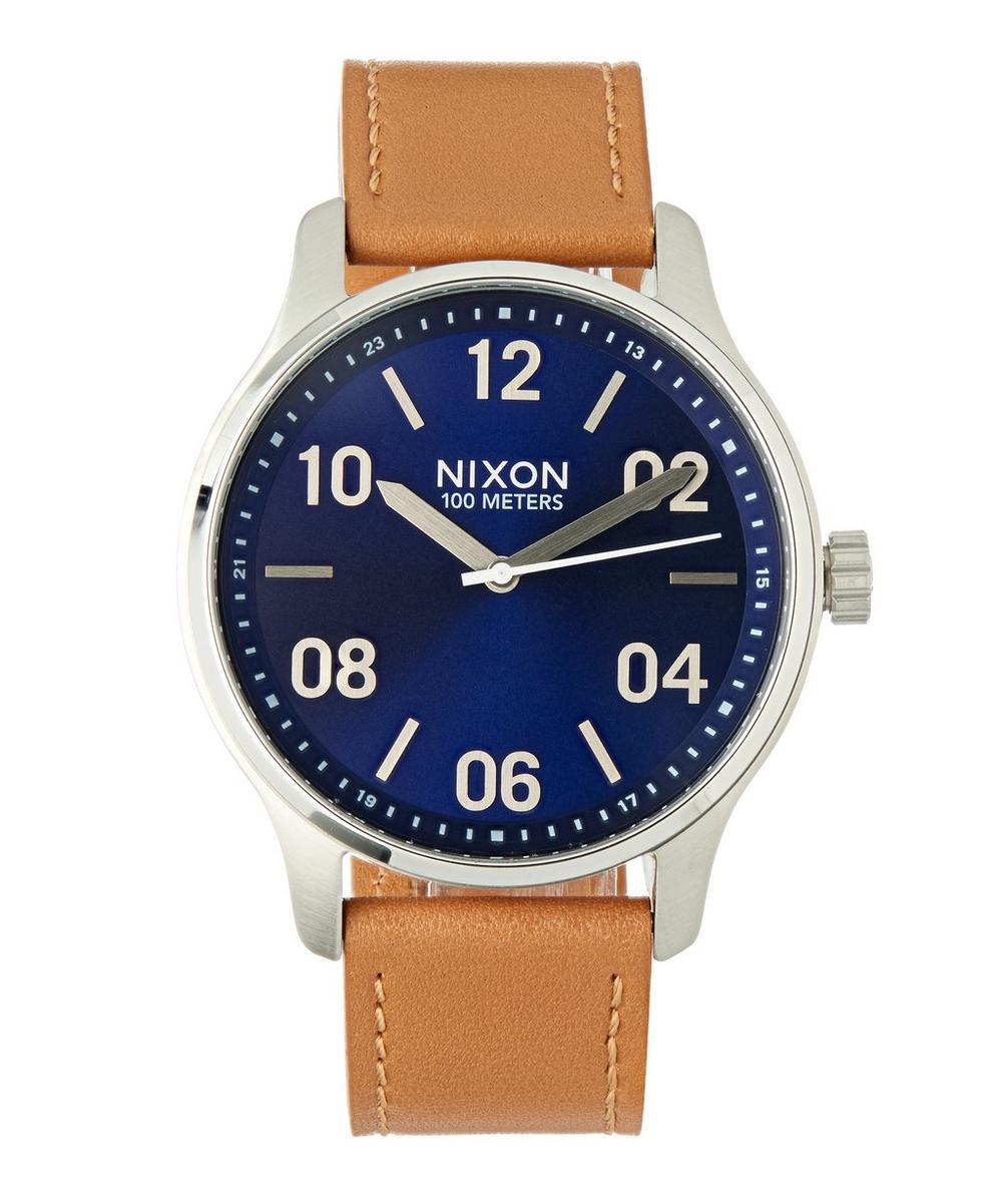 Patrol Leather Navy Saddle Watch