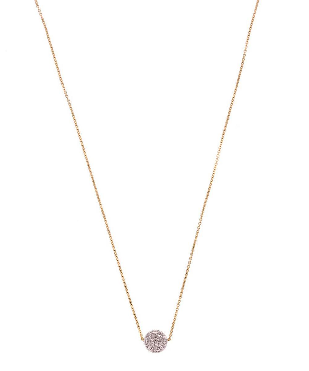 Gold Vermeil Fiji Button Diamond Necklace