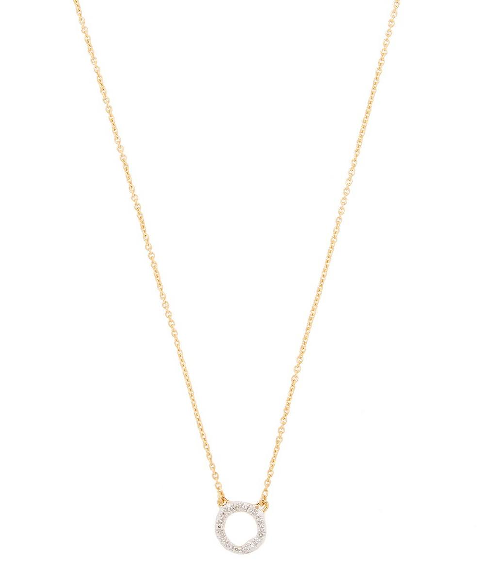 Gold-Plated Riva Diamond Circle Necklace
