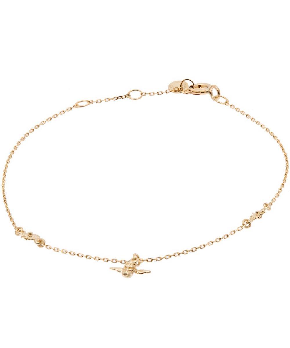 Gold Beekeeper Floral Chain Bracelet