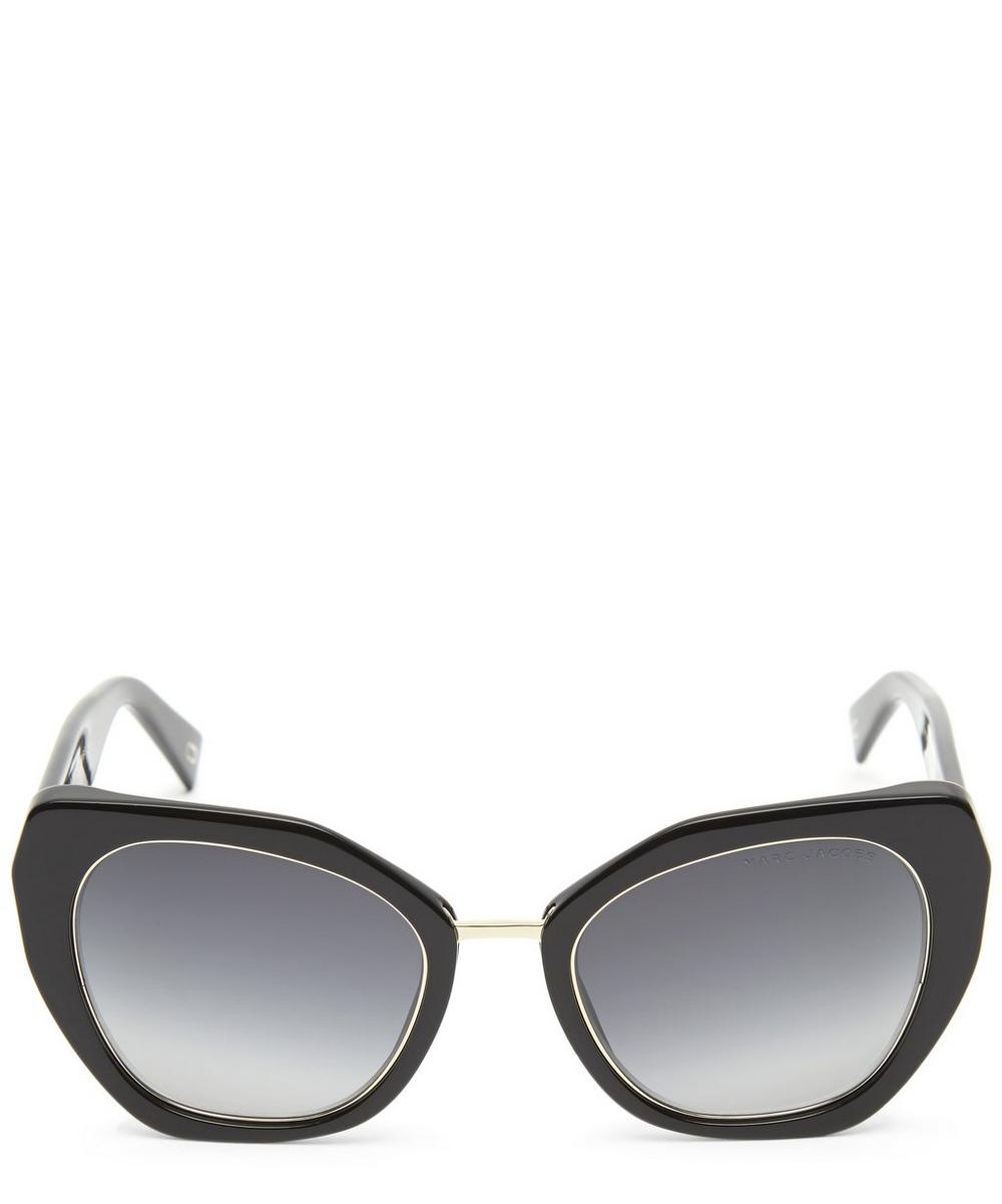 Abstracted Cat-Eye Sunglasses