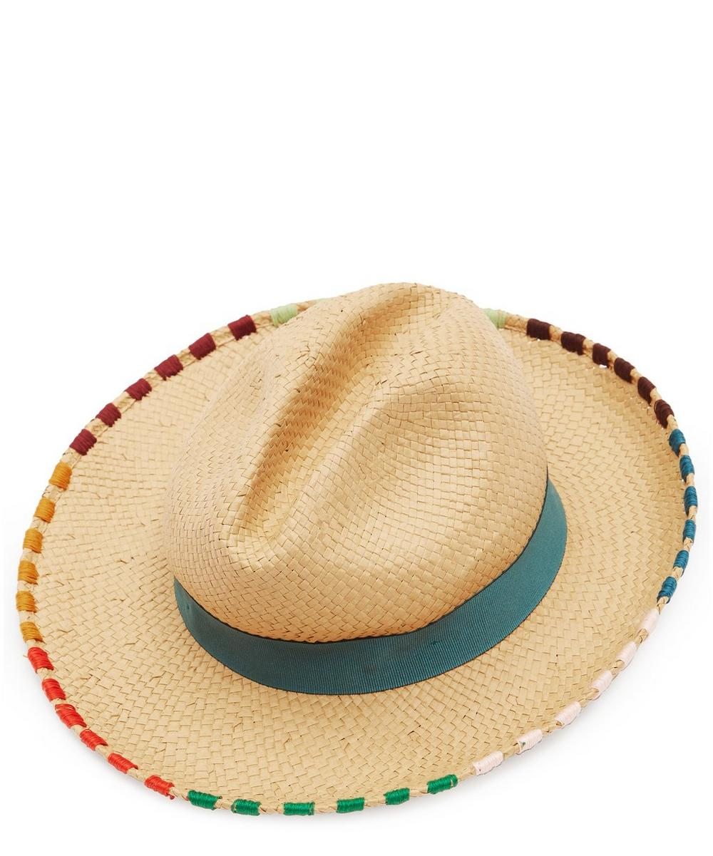 PAUL SMITH | Artist Stripe Straw Hat | Goxip