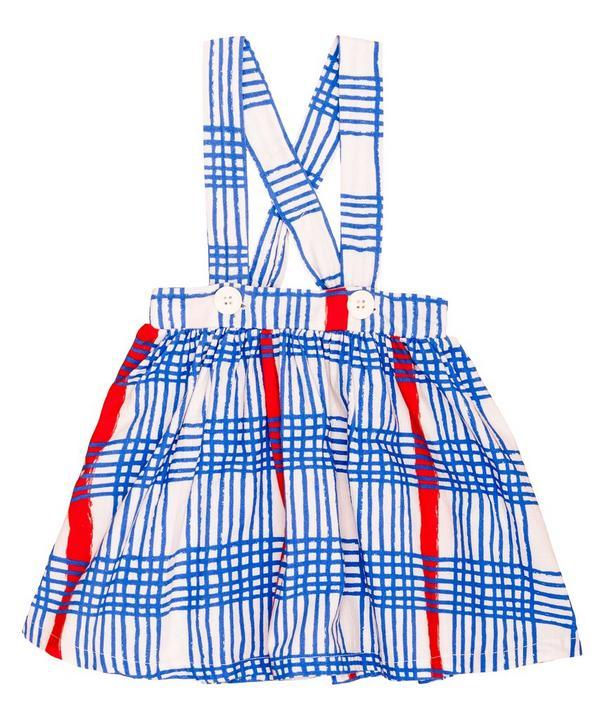 Gingham Braces Skirt 2-8 Years