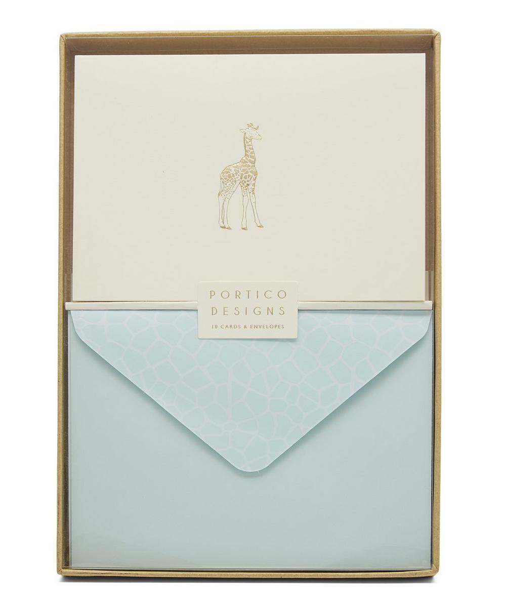 Giraffe Foil Notecards