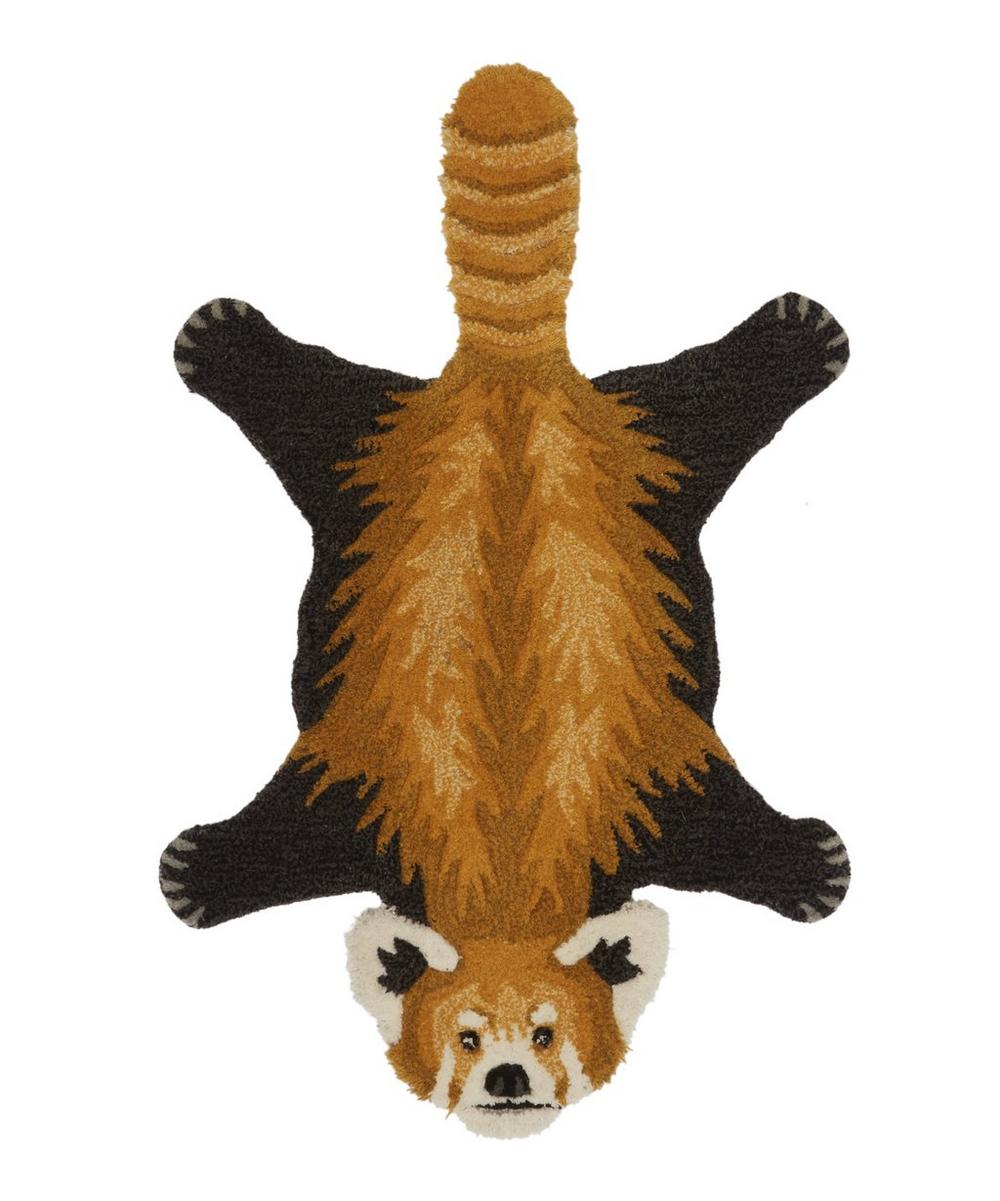 Small Perky Red Panda Rug
