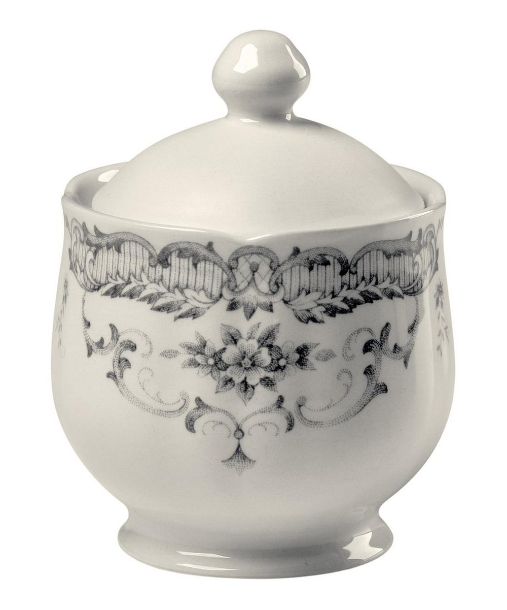 Ironstone Sugar Bowl With Lid