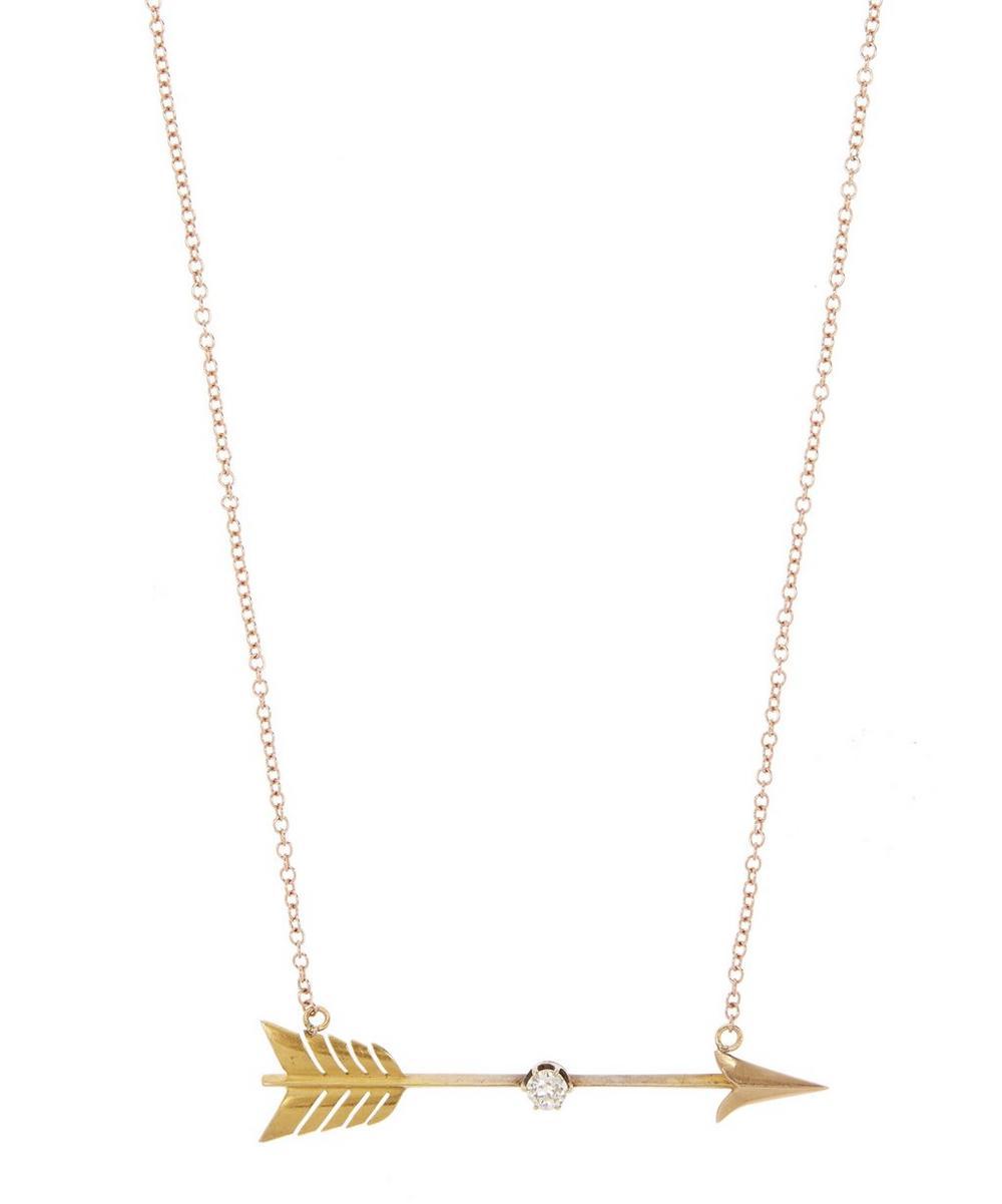 Rose Gold Diamond Arrow Necklace