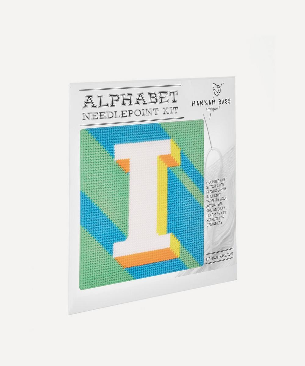 Letter I Needlepoint Kit