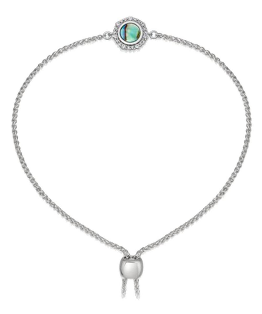 Silver Luna Abalone Sapphire Kula Bracelet