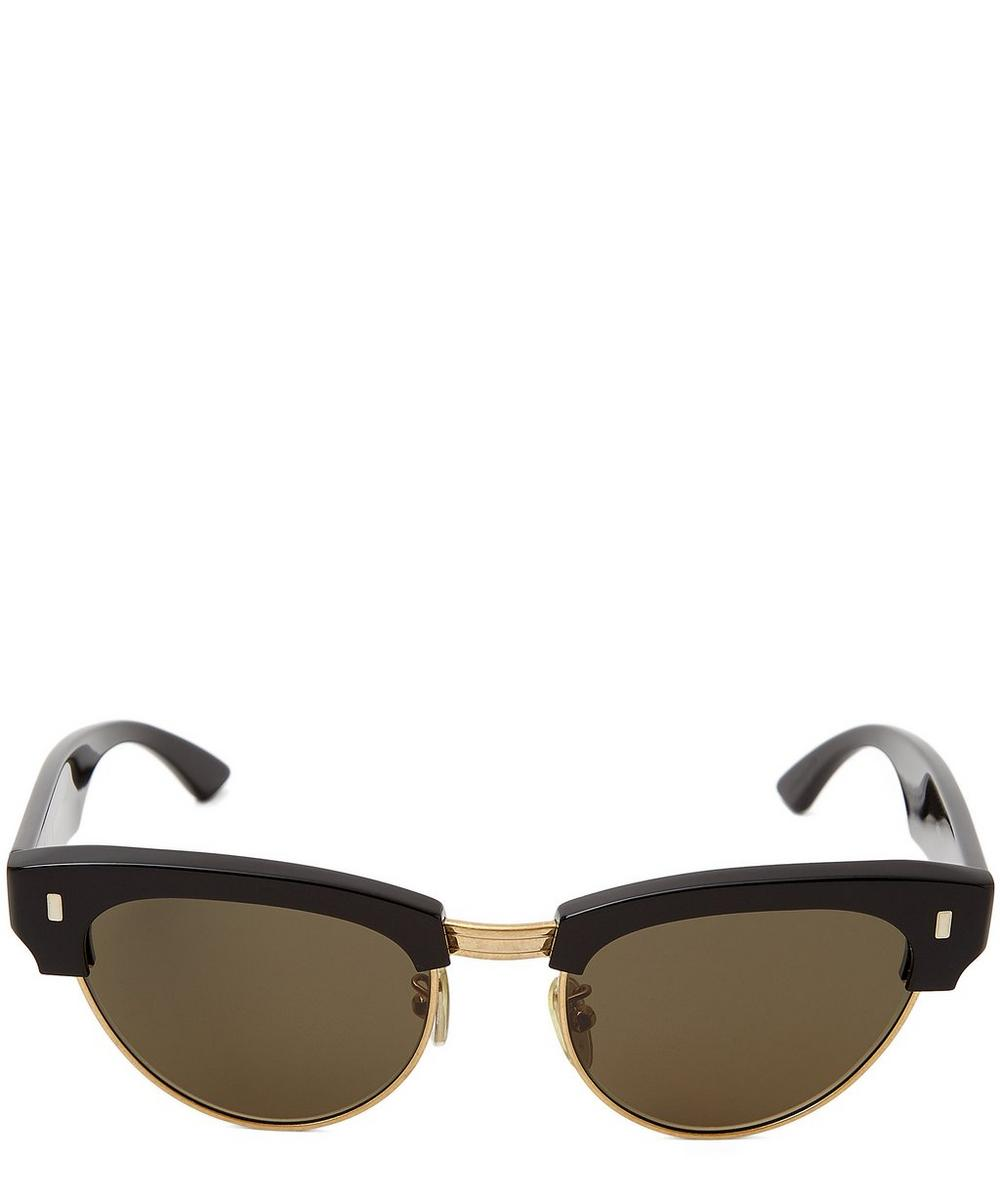Retro Round Cat-Eye Sunglasses