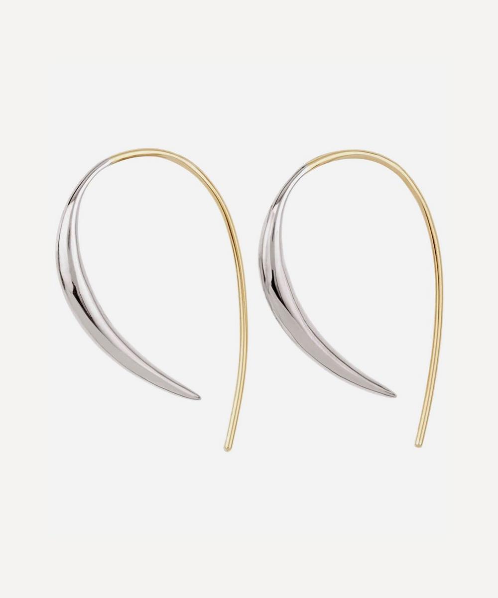 Gold And Silver Toro Beak Street Hook Earrings