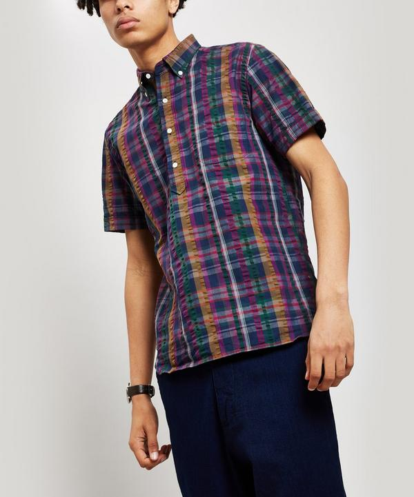 Check Seersucker Short Sleeve Shirt