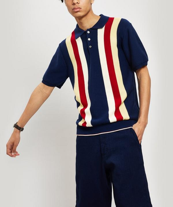 Block Stripe Cotton Polo-Shirt
