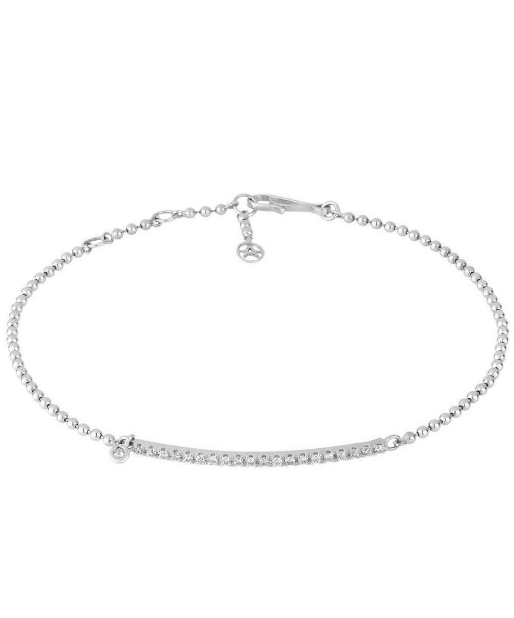 18Ct White Gold Fine Line Diamond Bracelet