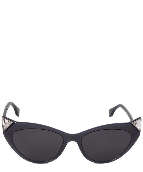 FF Crystal Cat-Eye Sunglasses