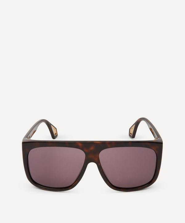 Havana Injection Oversized Square Sunglasses