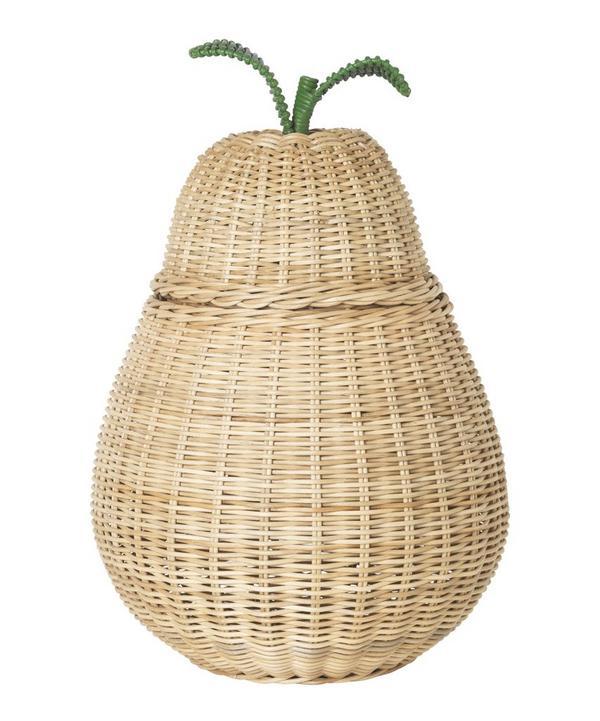 Large Braided Pear Storage Basket
