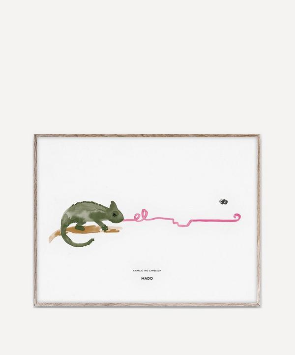 Charlie the Chameleon A3 Print