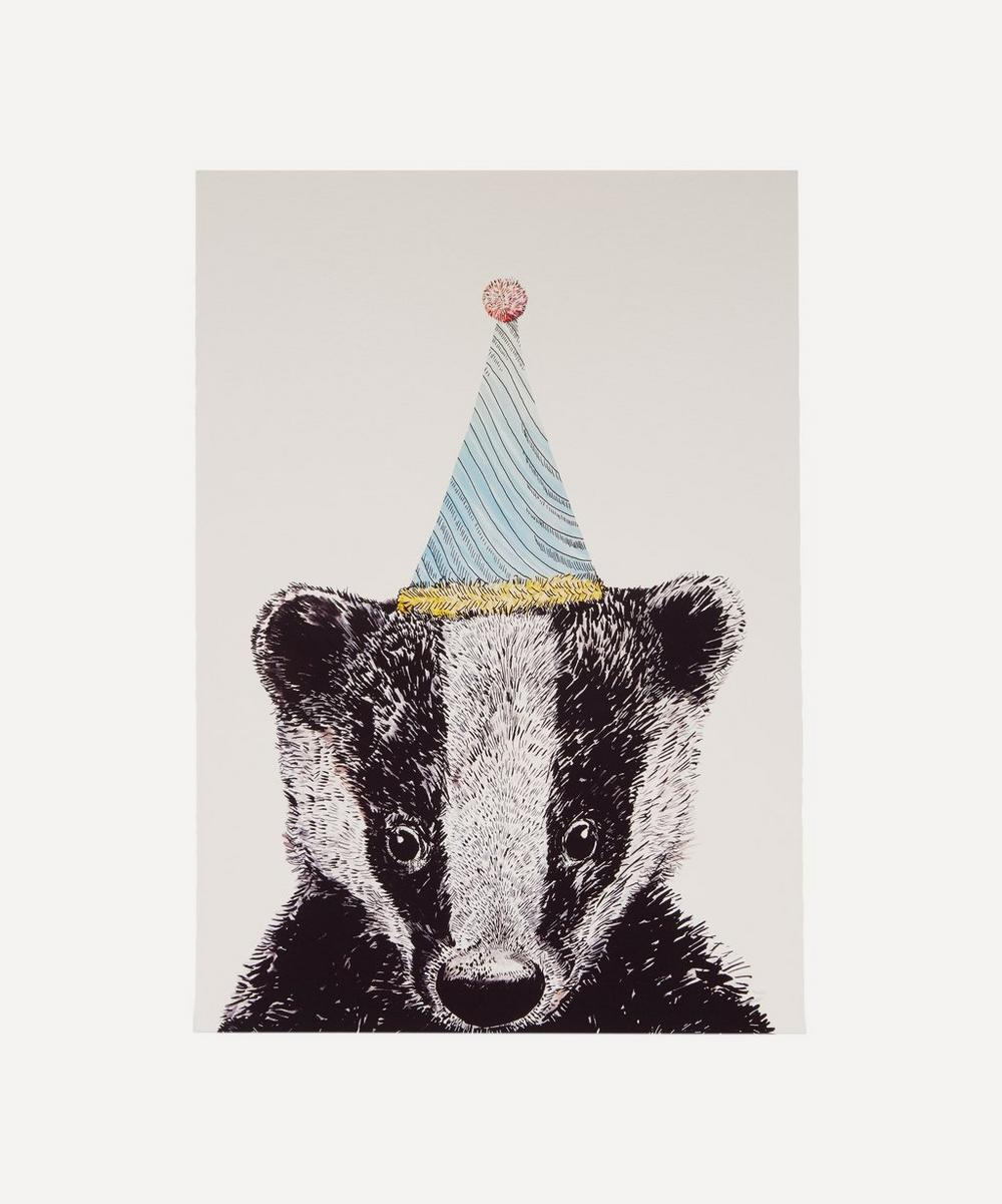 Party Badger A3 Print