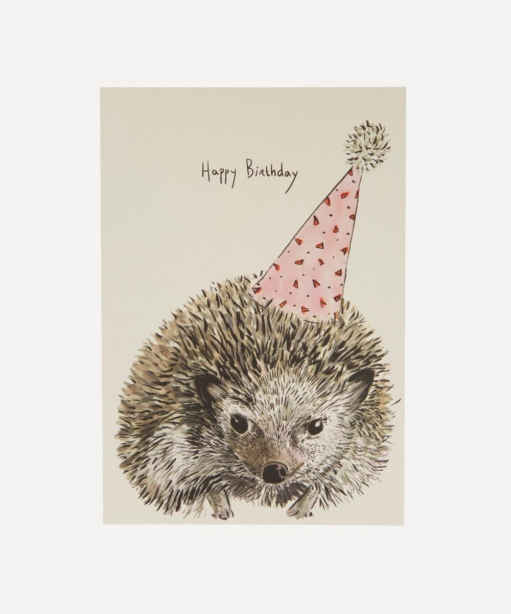 Party Hedgehog Birthday Card