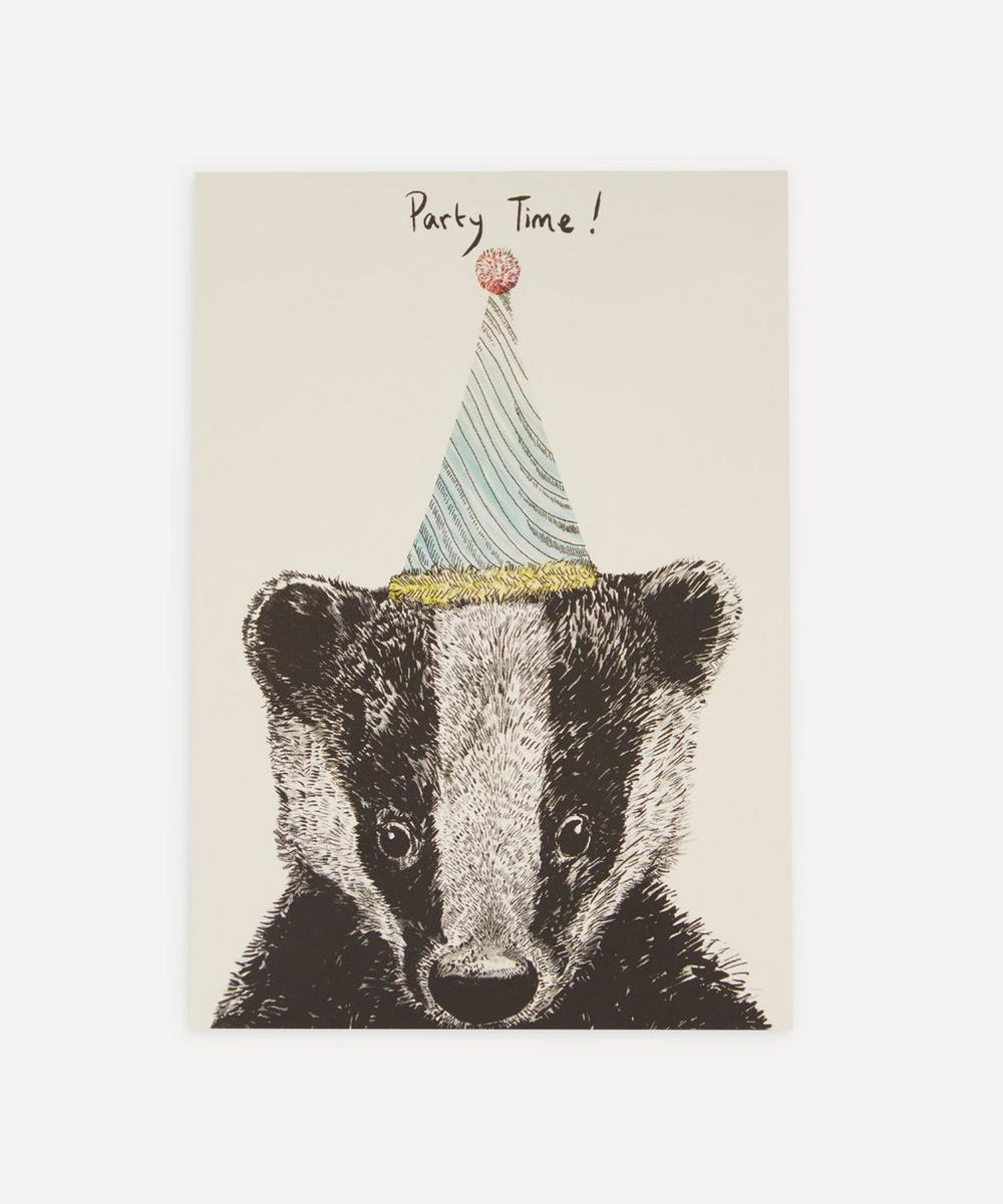Party Badger Birthday Card