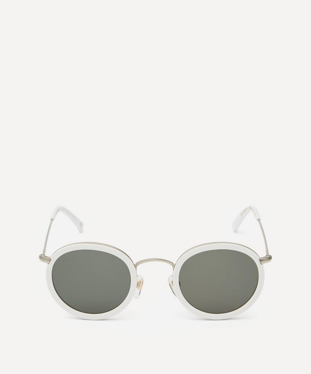 Drum Round Acetate Metal Sunglasses