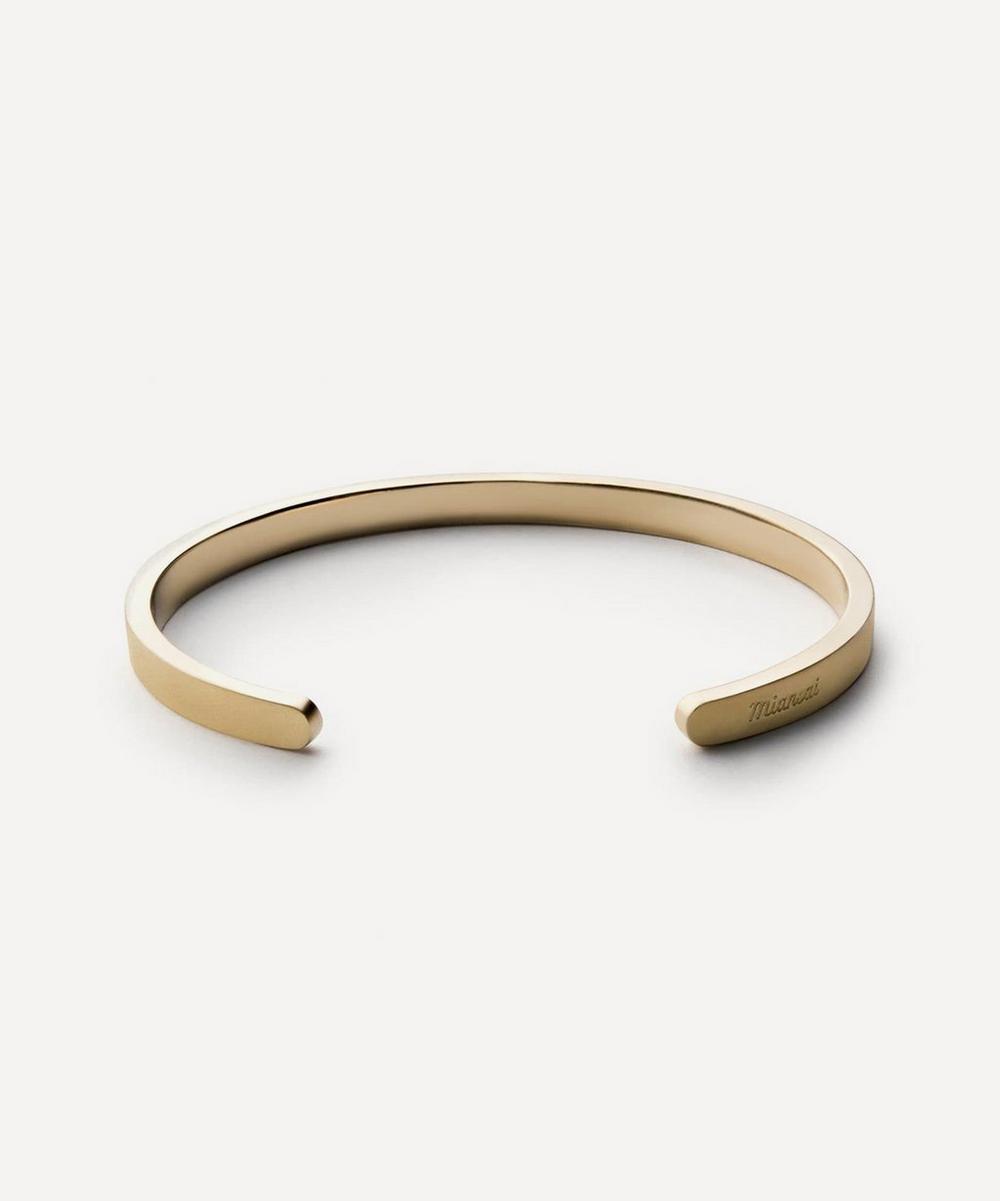 Matte Brass Singular Cuff Bracelet