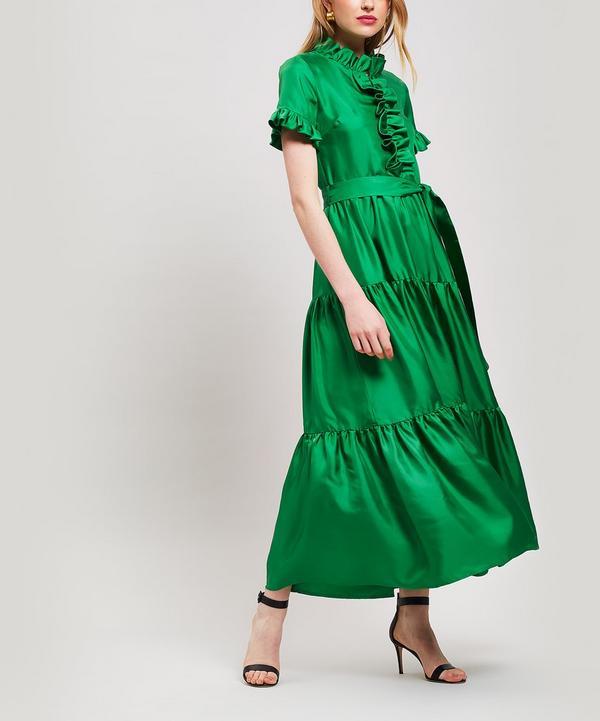Long and Sassy Silk Dress
