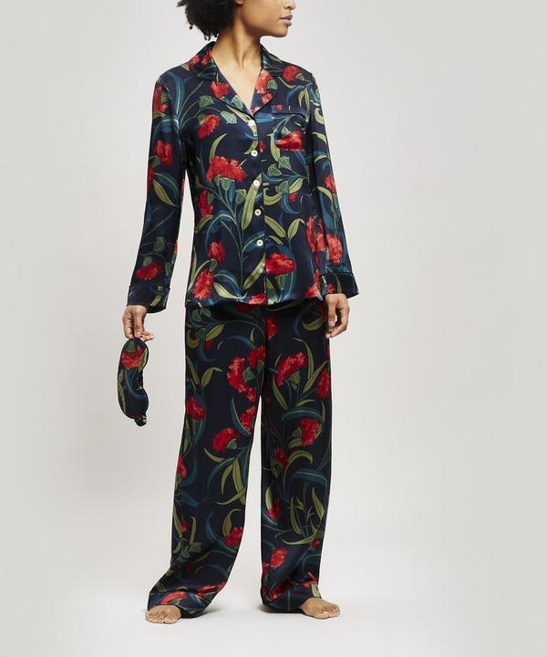 Evelyn Silk Charmeuse Long Pyjama Set