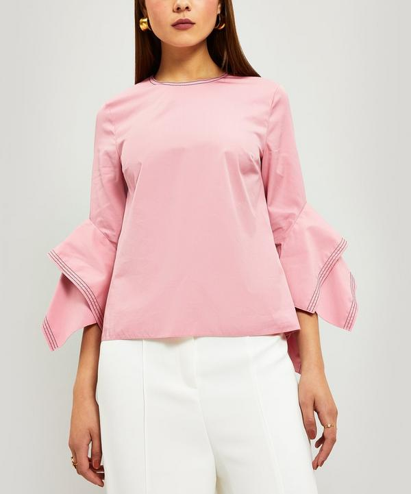 Rana Flare-Sleeve Cotton Top