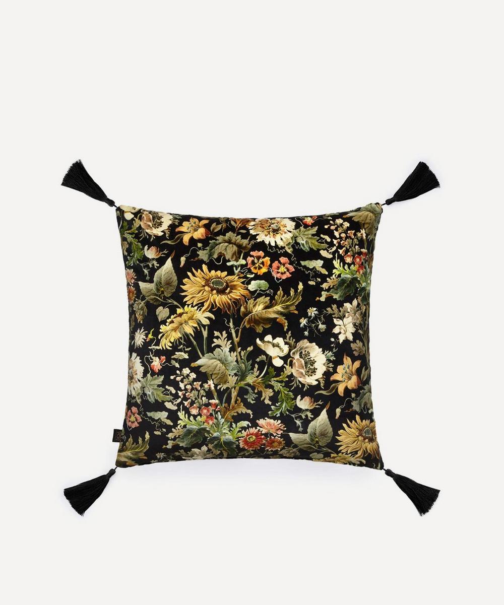 Large Tasselled Avalon Velvet Cushion