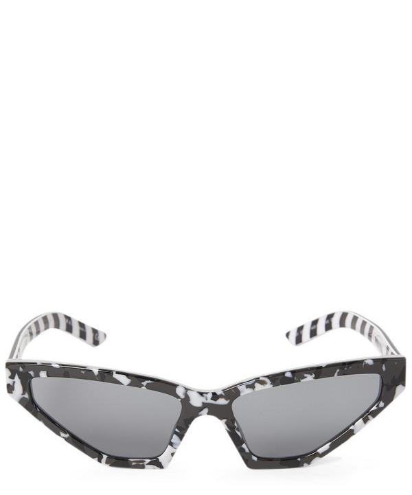 Camouflage Cat-Eye Sunglasses