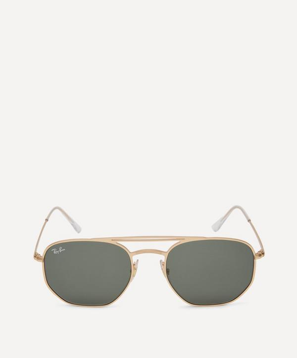 Gold-Toned Aviator Sunglasses