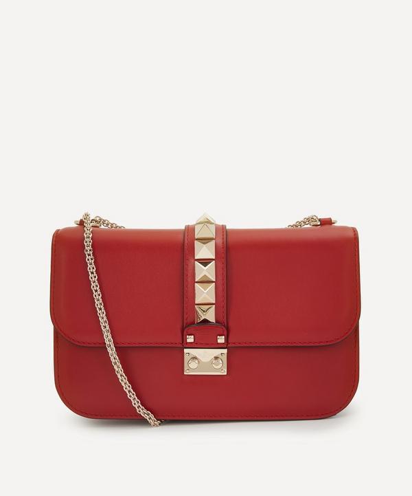 Medium Leather Rockstud Shoulder Bag