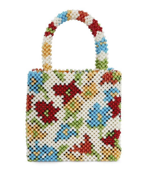 x Liberty Faux Pearl Beaded Tote Bag