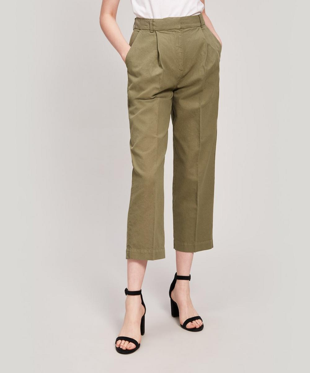 Ymc You Must Create MARKET LINEN AND COTTON-BLEND TROUSERS