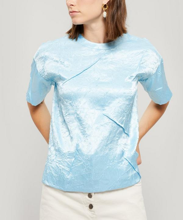 Mattie Crinkle Satin T-Shirt