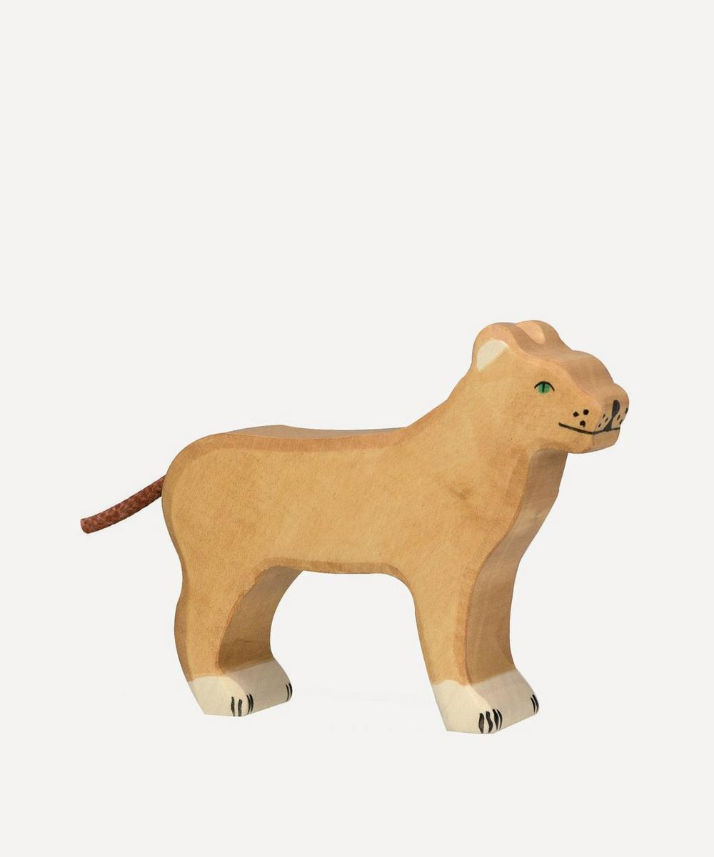 Wooden Lioness Toy