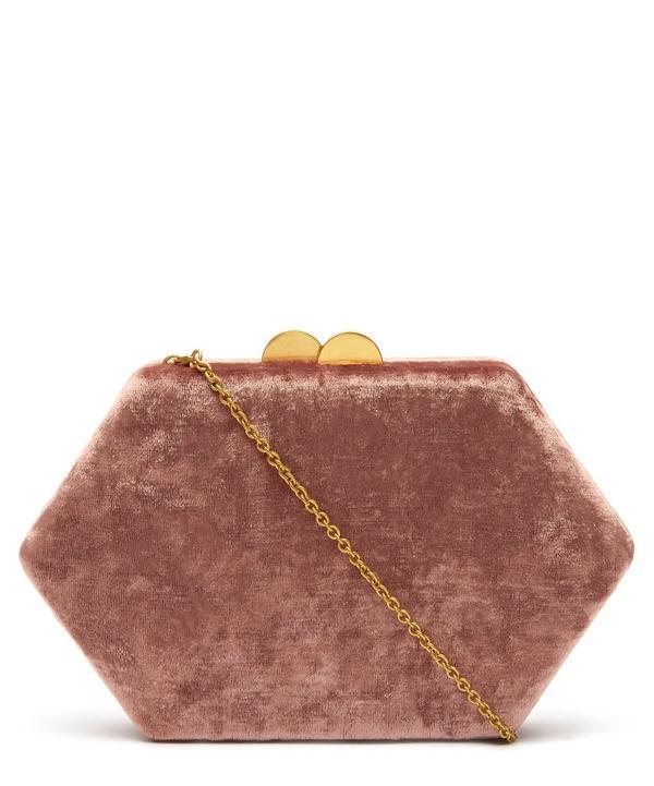 Sloane Velvet Clutch Bag