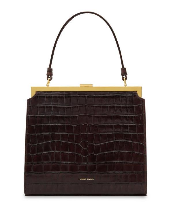 Croc-Embossed Leather Elegant Bag
